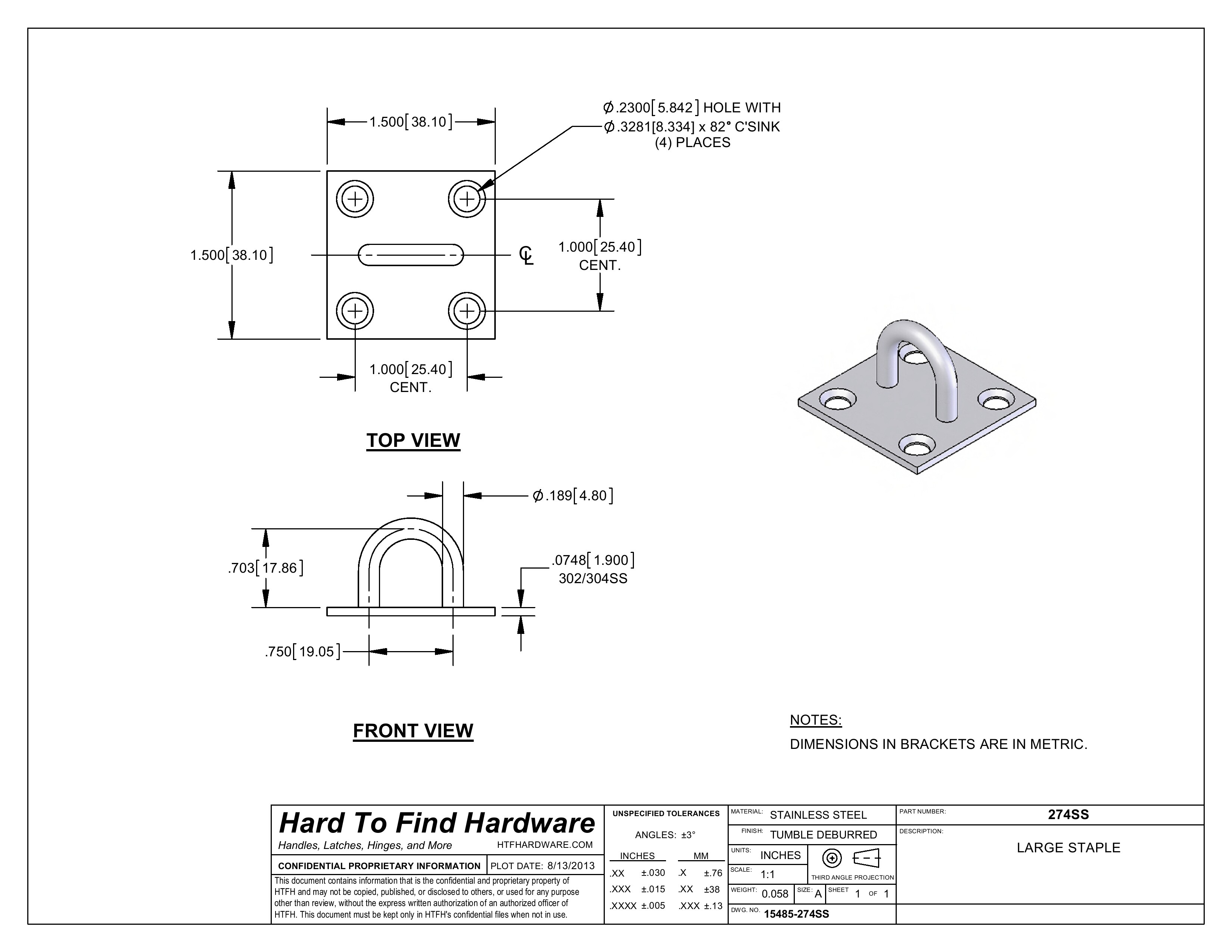 Hasp And Staple >> STAPLE - Hasps and Staples - Industrial Parts